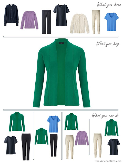 How to Build a Capsule Wardrobe One Piece at a Time, 3 Accent Colors with Navy and Beige