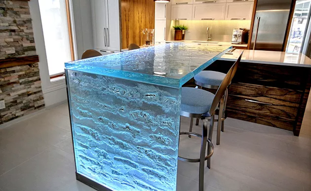 Recycled Glass Kitchen