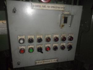 Control Panel for 15 PPM Bilge Separator