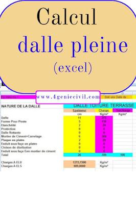 Excel de calcul dalle pleine (BAEL)