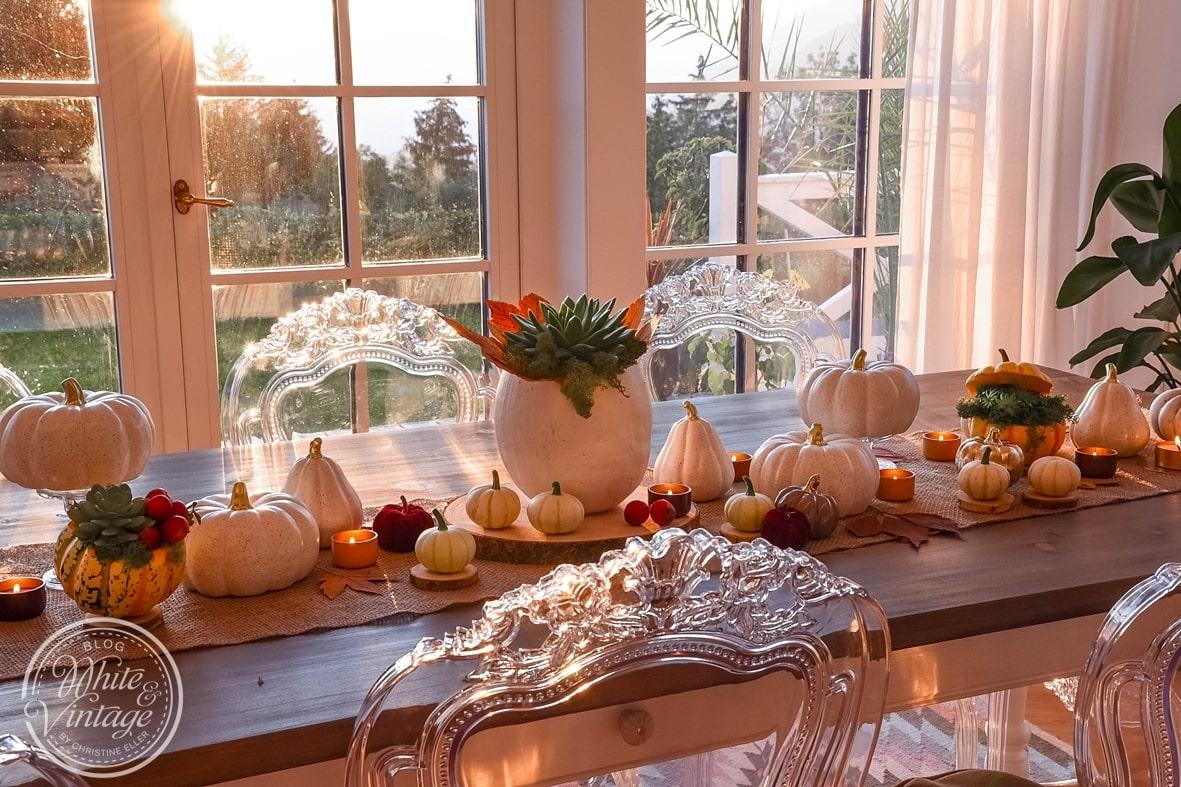 Herbststimmung für dein Zuhause mit Herbstdeko aus Naturmaterialien.