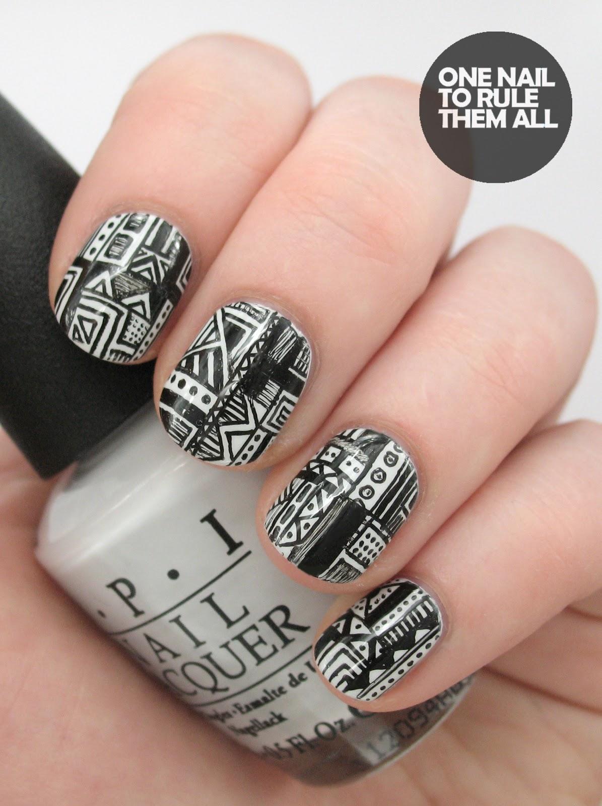 Gel Pen Doodles Nail Art Designs