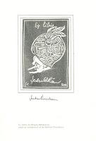 ex libris carte  Cioculescu, Şerban. Tudor Arghezi