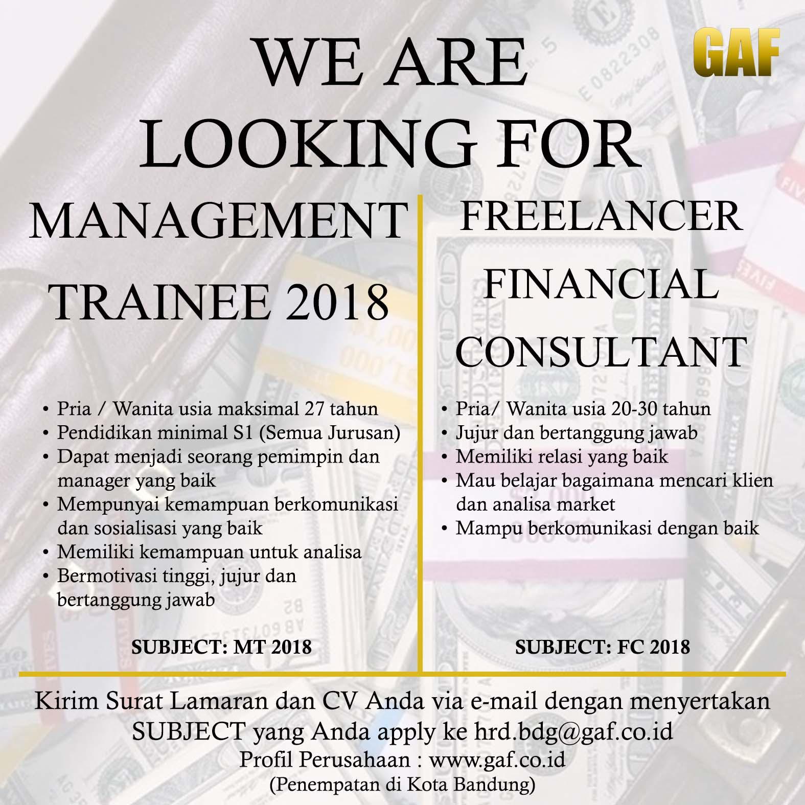 Lowongan Kerja PT. GAF Bandung Maret 2018