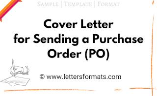 Sample Cover Letter for Sending Purchase Order PO