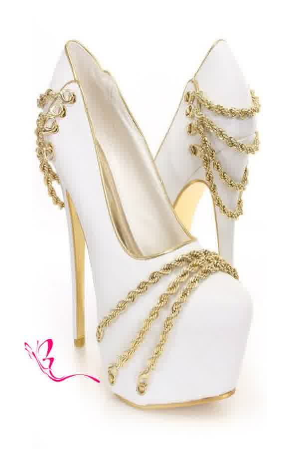25c03561a81 Precious Heels of White Gold Prom Shoes | bridal and wedding gowns