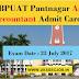 Download GBPUAT Pantnagar Assistant Accountant Admit Card 2017