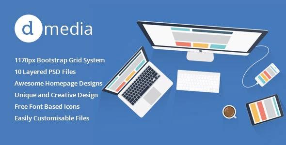 dMedia Multi Purpose HTML5 Creative Template