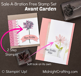 Avant Garden 2 Step Stampin Up MidnightCrafting.com Sale A Bration 2017