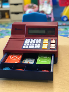 using a cash register in preschool speech and language therapy