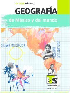 Geografía de México y el Mundo primer grado Telesecundaria Ciclo Escolar 2015-2016