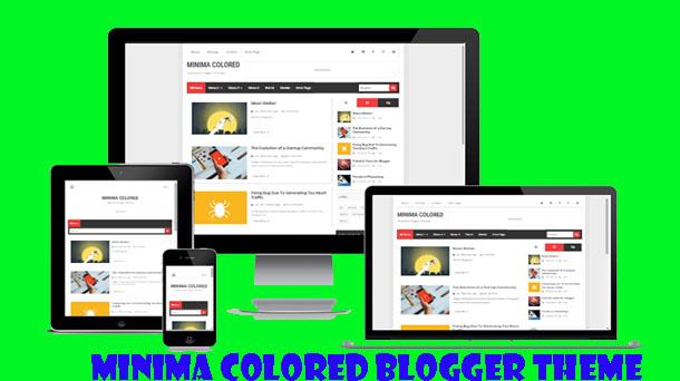 Minima Colored V3 Responsive Premium Blogger Theme - Responsive Blogger Template