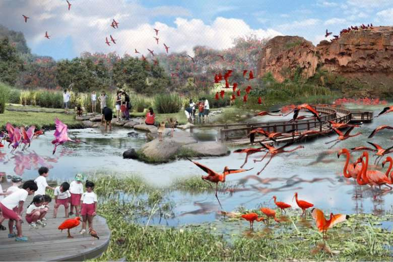 Artist's impression of the new Bird Park and aviary ...
