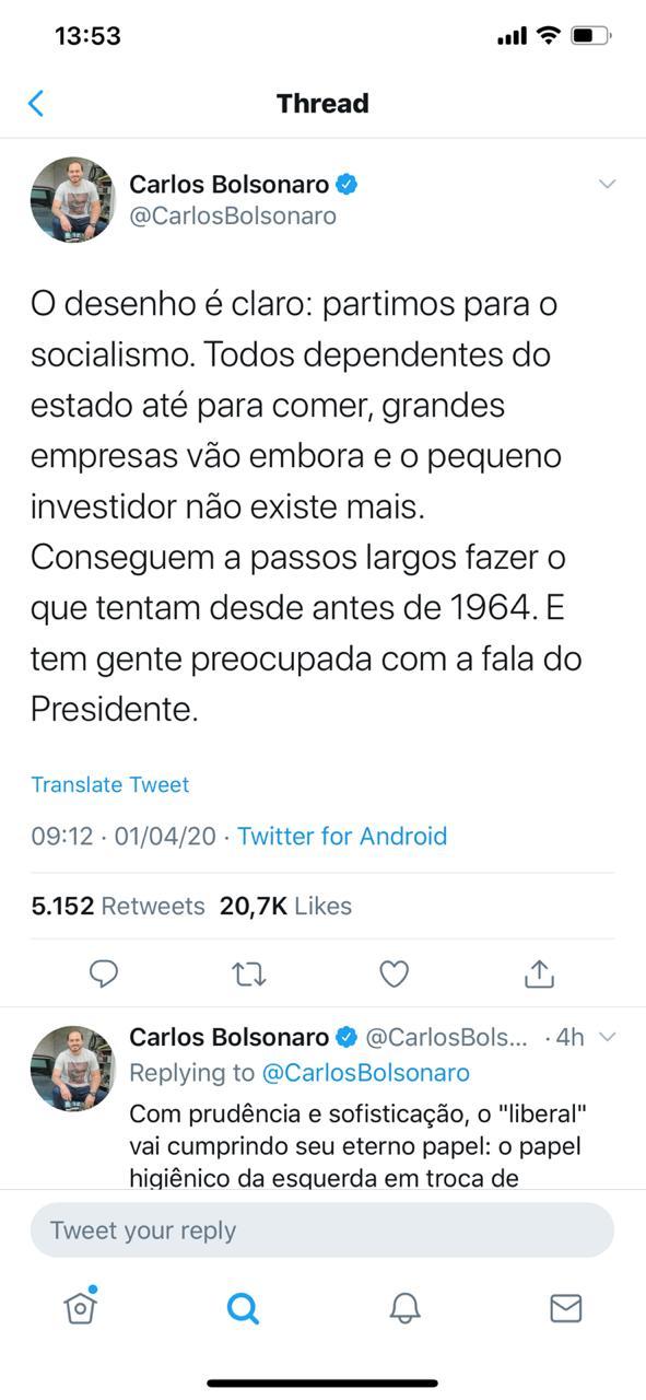 Carlos Bolsonaro, um canalha primordial