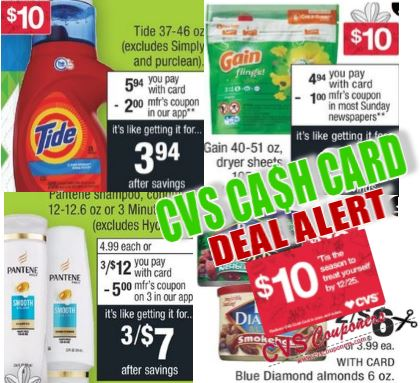 tide gain pantene cash card cvs couponers deal