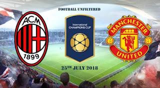 Jadwal AC Milan vs Manchester United - ICC 2018 Amerika Serikat