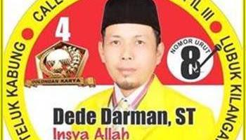 Dede Darman, ST : Siap Berikan Yang Terbaik Buat Kota Padang