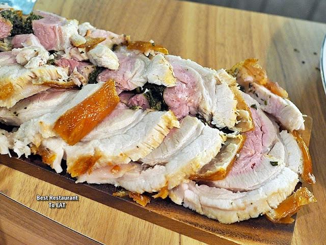 PASSIONE RISTORANTE ITALIANO Menu - Roasted Porchetta (Italian Roast Pork) - Roasted Pork Belly with Aromatic Herbs and Garlic