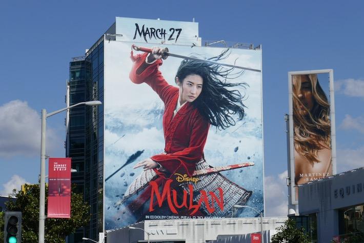 Giant Mulan movie billboard