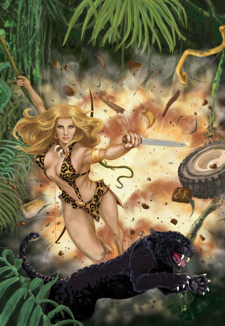 One popular character, adapted into various media, is Sheena, Queen of the Jungle, who, though created by American writer-artists Will Eisner and Jerry Iger.