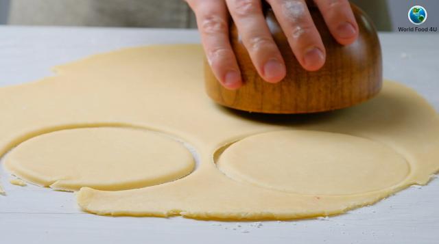 cutting dough for empanadas