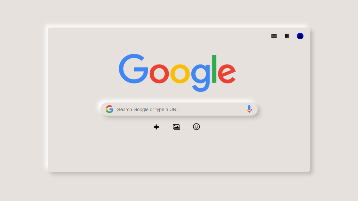 Neumorphism Google page image