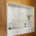 Lavabo minimalista com madeira e bancada caixa de granilite!