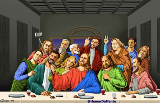 the last selfie humor fun religion ultima cena