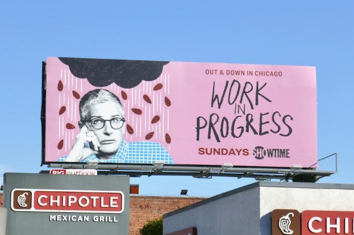 Work in Progress series launch billboard