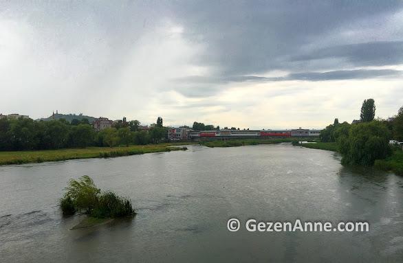 Meriç nehri Filibe'den geçiyor, Bulgaristan