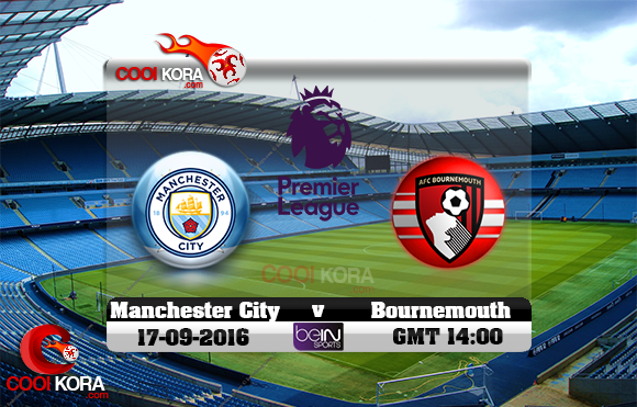 مشاهدة مباراة مانشستر سيتي وبرنموث اليوم 17-9-2016 في الدوري الإنجليزي