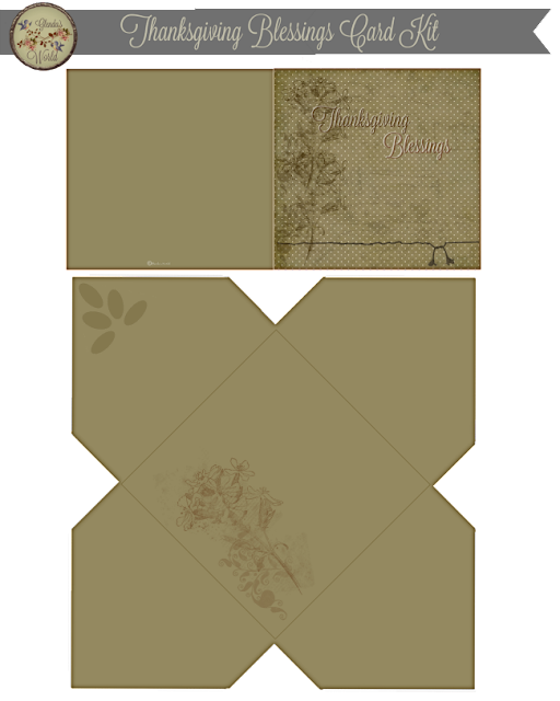 Thanksgiving Blessings Card & Envelope