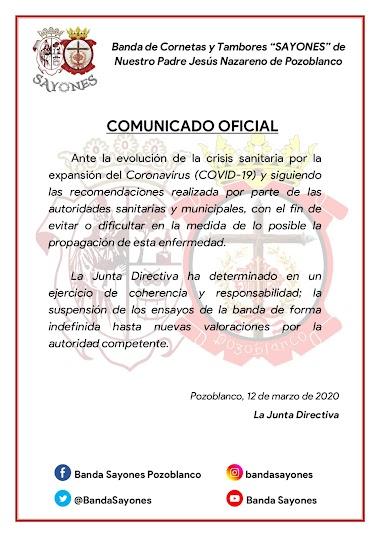 📣 | COMUNICADO OFICIAL | COVID -19 | 📣
