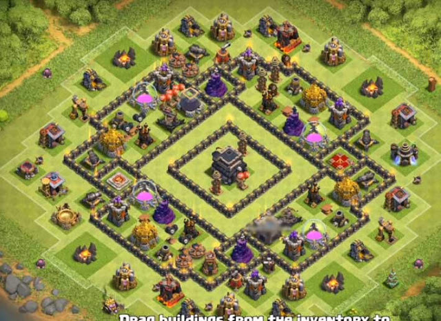 Base COC TH9 Trophy 10