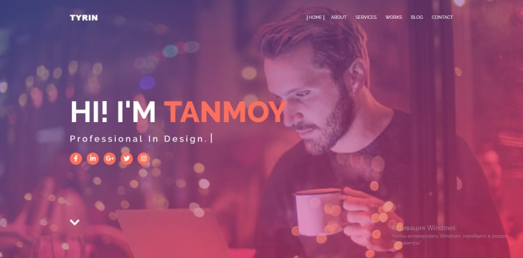 Tyrin blogger template 2019