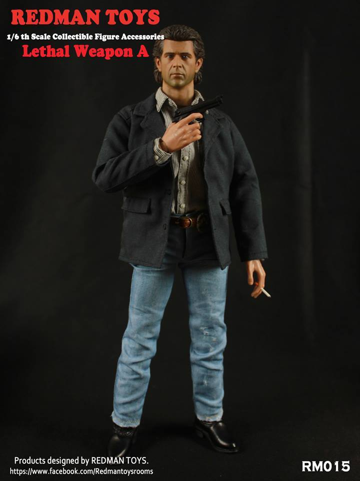 REDMAN Martin Riggs Lethal Weapon Set A Black Jacket loose 1//6th scale