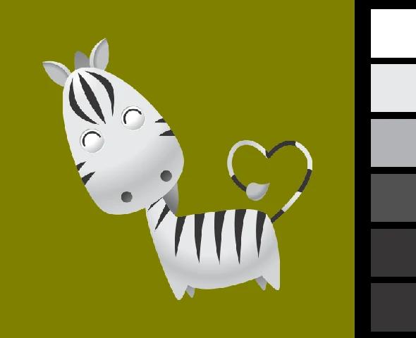 Gambar Mewarnai Hewan Kuda Zebra