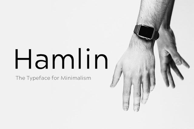 HAMLIN - Minimal Geometric Typeface + Web Fonts Download Font Free