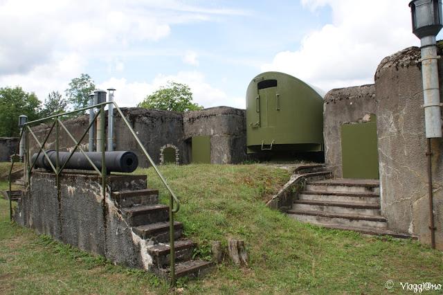 Alcune postazioni di tiro esterno del Forte di Mutzig