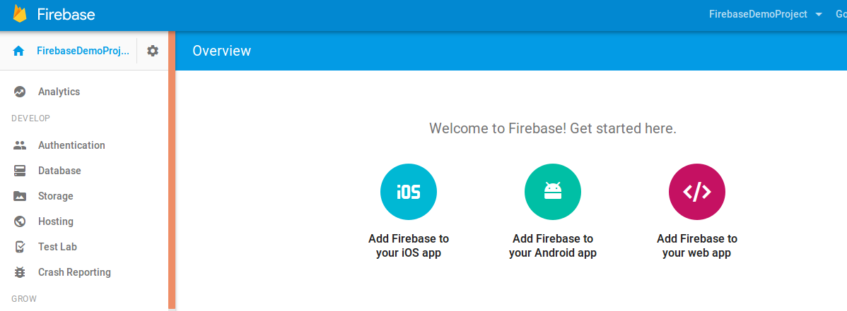 Firebase Tutorial: 1  How to start firebase in android
