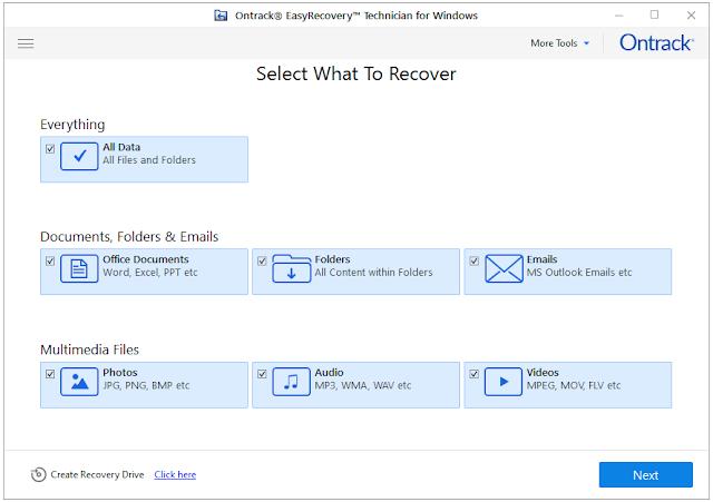 Screenshot Ontrack EasyRecovery Technician 14.0.0.0 Full Version