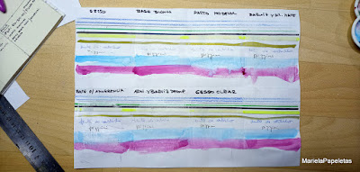 Prueba de campo de mixed media sobre papel de oficina A4 resma 70 gr