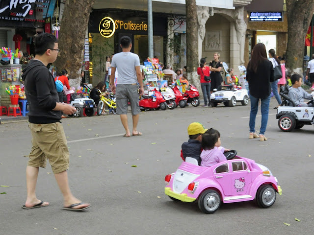 Remote controlled Hello Kitty cars in Hanoi Vietnam