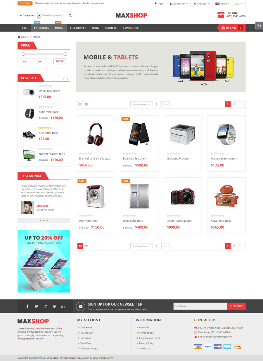 Maxshop Multi Purpose Responsive Woocommerce Theme Free Download