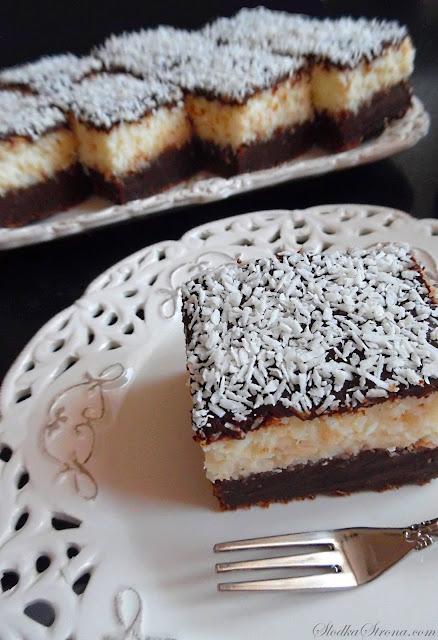 Brownies z Kokosem (Ciasto a'la Bounty) - Przepis -- Słodka Strona