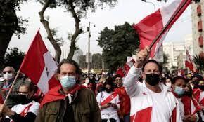 Rival protests in Peru