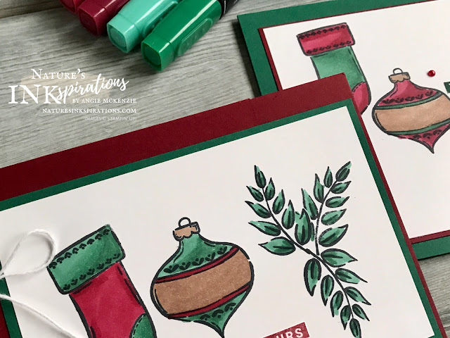 By Angie McKenzie for Kre8tors Blog Hop; Click READ or VISIT to go to my blog for details! Featuring the Tag Buffet and Peace & Joy stamp sets along with the Scallop Tag Punch and Wrapped in Christmas stamp set by Stampin' Up!; #tagbuffetstampset #peaceandjoystampset #scalloptagpunch   #naturesinkspirations #coloringwithblends #alcoholmarkers #makingotherssmileonecreationatatime #cardtechniques #stampinup #handmadecards #christmascards #giftcards #gifttags #kre8torsbloghop