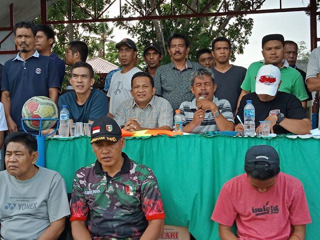 Ketua DPRD Bone Saksikan Langsung Delapan Besar Turnamen Sepak Bola Ahmading-ST Rabiah Cup 2019