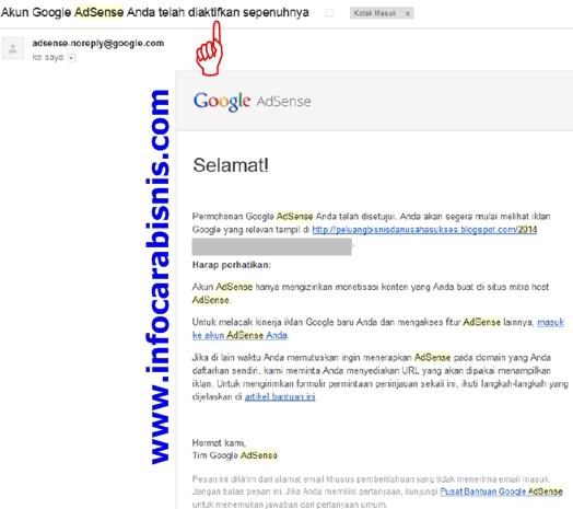 Akun Google Adsense Anda telah diaktifkan sepenuhnya