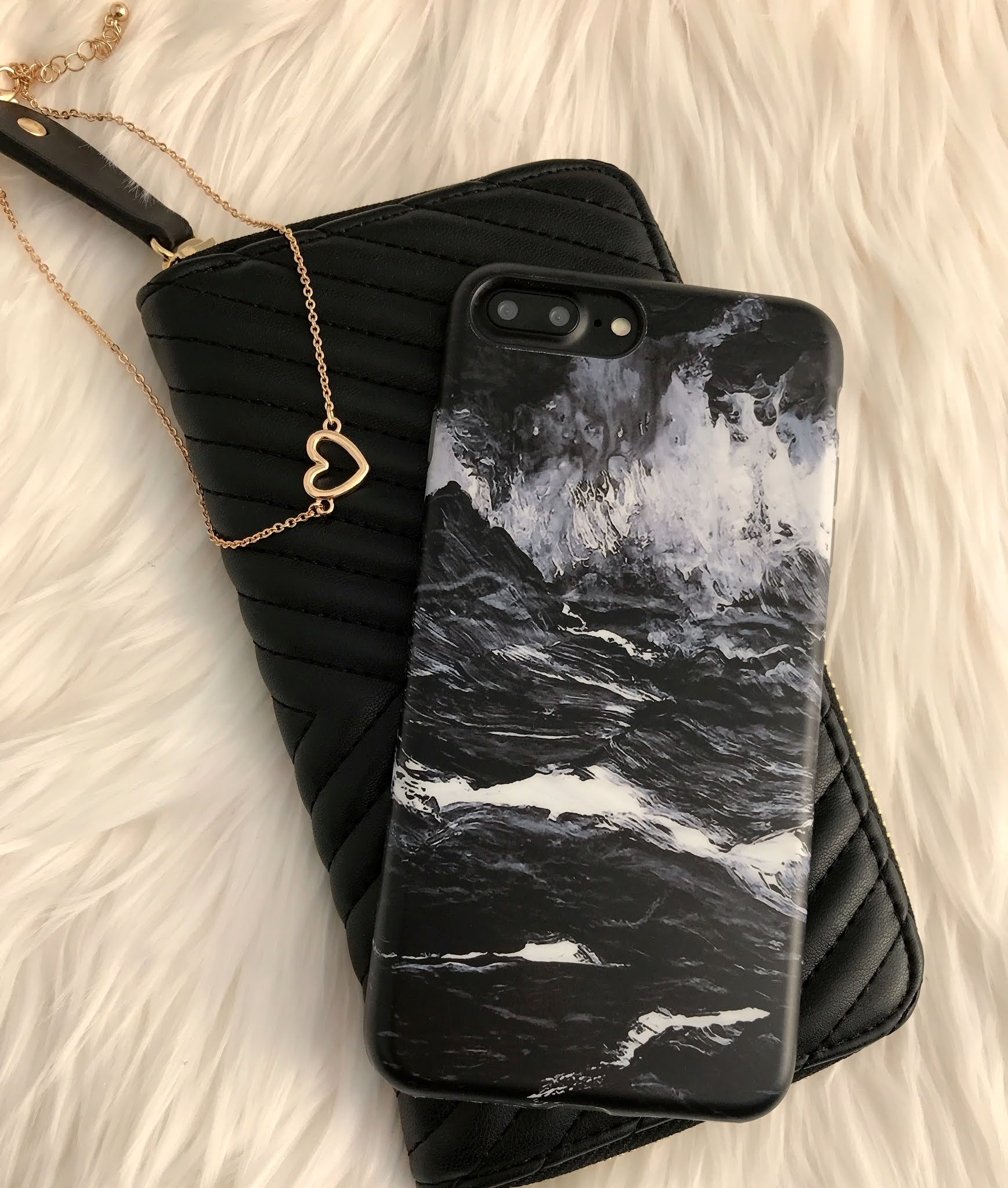 casing marble hitam